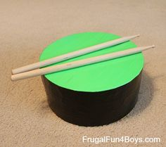 Duct Tape Practice Drum I have seen this done with tires. Drums For Kids, Drum Lessons For Kids, Music For Kids, Music Instruments Diy, Homemade Instruments, Diy Instrument, Music Crafts, Tape Crafts, Homemade Drum