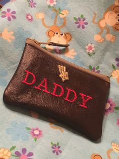 Excited to share the latest addition to my #etsy shop: DADDY - MY No1 Leather and embroidered pouch /Ideal Fathers Day bespoke Gift many uses coins / photographs / tobacco /jewellery https://etsy.me/2kWD5q5 #bagsandpurses #brown #fathersday #leather #tobaccopouch #wall