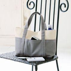 シンプルなグレーがおしゃれ!1枚仕立てで作る帆布のトートバッグの作り方(バッグ)