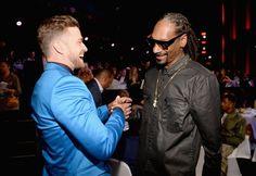 Pin for Later: Werft einen Blick hinter die Kulissen bei den iHeartRadio Music Awards Justin Timberlake und Snoop Dogg