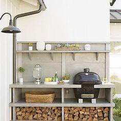 Outdoor Kitchen, Transitional, deck/patio, Eric Olsen Design
