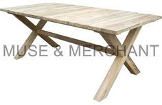 A picnic table made from reclaimed teakwood!