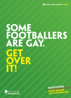 Right Behind Gay Footballers – Paddy Power