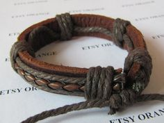 Real Leather and Multicolour Cotton Rope Woven by sevenvsxiao, $3.00