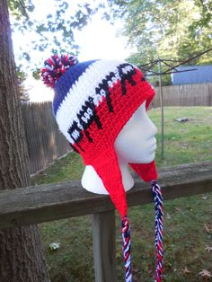 Items similar to ANY SPORTS TEAM Crochet Hat Completely Designed By You   Crochet Sports Team Hats  Custom Made Sport Hat on Etsy. Patriots Football  TeamNew ... 849e1b298