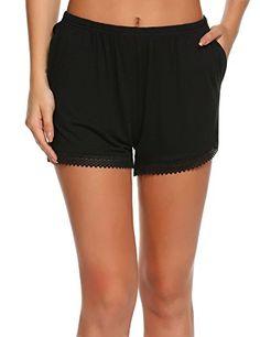 3abbb78344 Skylin Bamboo Drawstring Sleep Pajama Shorts Womens Casual Active Lounge  Sweat Shorts S-XXL