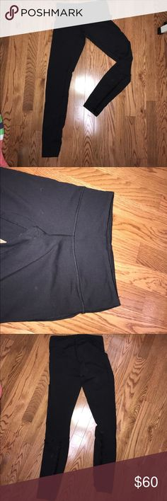 Lululemon black yoga pants Good condition. Slight piling in crotch area, not noticeable at all while on, you can just feel it slightly if you run your hand over the fabric. lululemon athletica Pants Leggings
