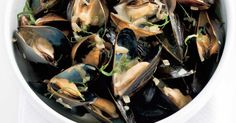 Beer, cream, and garlic mussels -- delish!