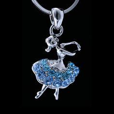 Swarovski Crystal Ballerina Dancer Ballet Silver by BijouxDeNuit