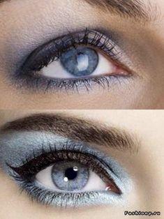 Makeup ideas for blue eyes [http://beautyeternity.com/2012/05/four-tips-apply-dramatic-eye-make-blue-eyes/] #eye #makeup #blue