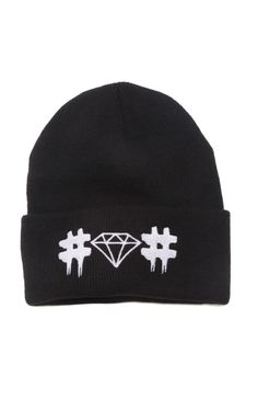 http://www.pacsun.com/been-trill/x-diamond-supply-co.-hashtag-beanie-0640474340003.html?start=10&dwvar_0640474340003_color=001&cg=mens-hats-and-beanies