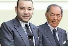 SM le roi Mohamed 6 et Feu SM le roi Hassan 2 du Maroc