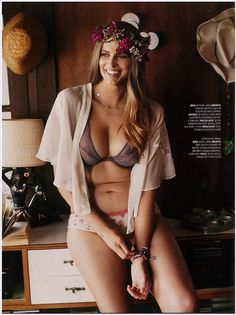"""ca65e6b6923 Model Robyn Lawley in """"Lazy Days"""" the March 2012 issue of Cosmopolitan  Australia. Photographed by Steven Chee and styled by Charlotte Stokes."""