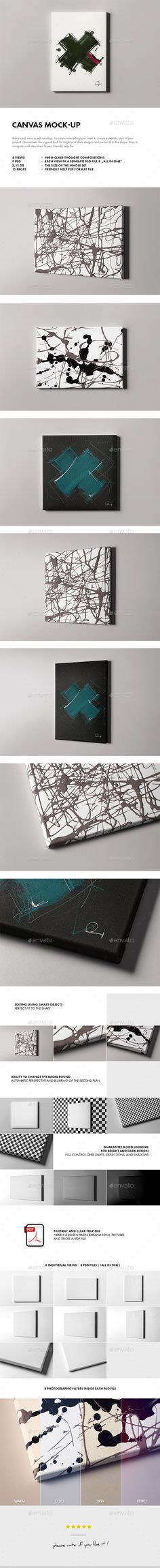 Canvas Mock-up  #modern #photo #photo-realistic • Available here → http://graphicriver.net/item/canvas-mockup/15782133?ref=pxcr&ref=pxcr
