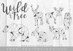 Download FREE Minimal Animals SVG Cut File (DXF, EPS & PNG) by Caluya Design. Compatible with Cricut, Cameo Silhouette and other major cutting machines.