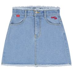 DETAIL (715 ARS) ❤ liked on Polyvore featuring skirts, mini skirts, bottoms, clothing - skirts, denim, blue a line skirt, button-front denim skirts, blue denim skirt, blue skirts and blue denim mini skirt