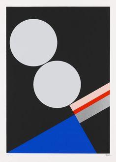Walter Dexel - Komposition mit zwei hellen Scheiben