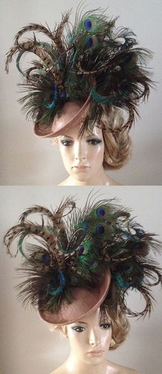 Peacock Pheasant Feather Disc Hatinator Headpiece Fascinator. Fun Hat for the Kentucky Derby, Dubai World Cup, Royal Ascot. Ladies Day Fashion outfits. Idea for spring wedding guest. One of my favourite colour combinations for racing fashion. Outfit ideas and inspiration. #outfits #ebayfinds #kentuckyderby #weddings #derbyoutfits #kentuckyderbyhats #derbyhats #royalascot #ascothats #ascotoutfits #outfitideas #fashion #ladiesdayoutfits #motherofthebride #promotion #fashionsonthefield