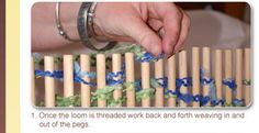 how to weave on peg loom