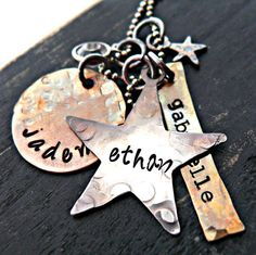 Hand Stamped Necklace  Personalized Necklace  by yourcharmedlife, $50.00