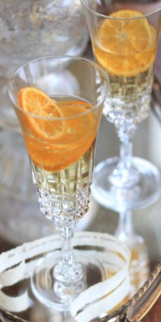 ╰☆╮COCKTAIL PARTY╰☆╮  ☆Clementine Champagne Cocktails**