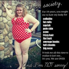 Dear society... We are OVER and I'm NOT sorry.