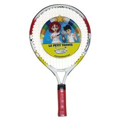 """Le Petit Tennis Racquet 17 Inches (Ages 2-3-4) by Le Petit Tennis. $20.00. Unique 17 inches tennis racquets from Le petit tennis. Super light. Fantastic for younger children. Fit ages 2 to 4. Used in all the Le Petit Tennis Story based programs in 20 coutries. Developed by Jean Fleurian (Davis Cup player) Use the companion """"My First Tennis Ball"""" inflatable ball from Le Petit Tennis to go with this size racquet."""