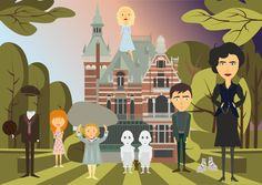 Vector Illustration Film Illustration Miss Peregrine's home for peculiar children Fanart Jacob Portman Emma Bloom Oliva Alma Lefay Peregrine Tim Burton Corel Draw