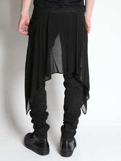 Gareth Pugh trousers with skirt