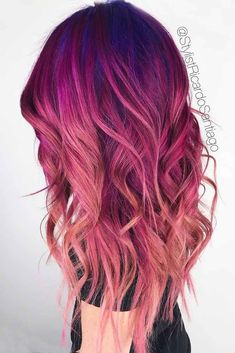 18 Best Winter Hair Colors ★ Burgundy Hair Colors for Winter Holidays Picture . - My Style - Hair Color Purple, Hair Dye Colors, Cool Hair Color, Burgundy Hair Ombre, Dark Ombre, Red Ombre, Winter Hairstyles, Everyday Hairstyles, Pretty Hairstyles