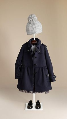 Burberry - WOOL CASHMERE SWING COAT - Darling!!  I love this coat.