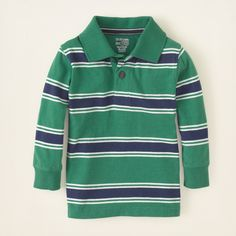 baby boy - long sleeve tops - striped polo   Children's Clothing   Kids Clothes   The Children's Place $12.50