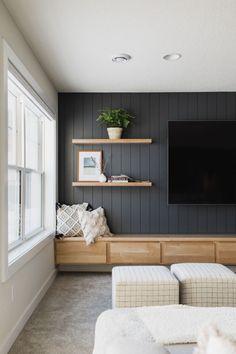 Home Living Room, Living Room Designs, Living Room Decor, Living Spaces, Living Room Shelving, Living Room Built In Cabinets, Living Room Ideas, Best Living Room Design, Living Room Styles