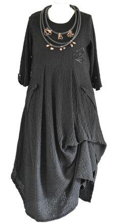 FAB GERMAN ZEDD.PLUS quirky/lagenlook BLACK parachute dress XL/XXL