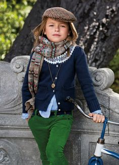 None of this matches, but she makes it work anyway. I might be able to handle that kind of style for my kids.