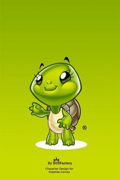 Cartoon Styles, Cartoon Art, Cute Turtle Cartoon, Character Inspiration, Character Design, Cut Out Art, Murals For Kids, Tortoise Turtle, Love Canvas