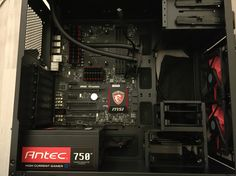 Project RED Aerocool DS200 Antec 750 MSI 970 Gaming Mainboard