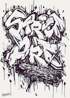 "Graffiti Blackbook work by ""BROKS"""