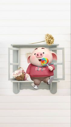 Pig Wallpaper, Animal Wallpaper, Cartoon Wallpaper, This Little Piggy, Little Pigs, Cute Piglets, 3d Art, Small Pigs, Pig Drawing