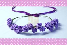 Pretty Flower Tiaras for little girls...these are real fun for a flower themed party or a Hawaiian themed party