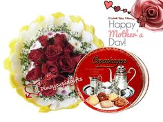 1 Dozen Red Roses In A Bouquet Arrangement Pinoy Cupid Gifts