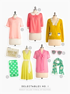 paperdoll clothes cut-out effect tutorial. Product Collage Tutorial via Pugly Pixel