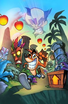 Colors over my loved Crash Bandicoot piece, by my good buddy Enjoy!!