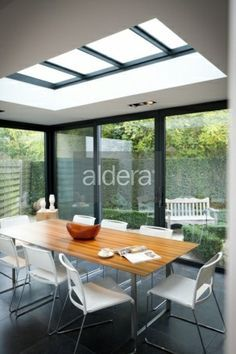 Roof Skylight, Dining Corner, Glass Room, House Extensions, Glass House, Outdoor Rooms, Home Renovation, My Dream Home, Bungalow