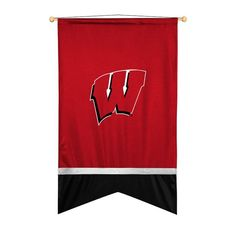 Wisconsin Badgers Sidelines Ribbon Style Wall Flag