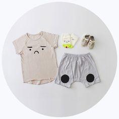 GRUMPY FACE | SUMMER SET | KOKACHARM | KA-BOOM | Kidswear + baby clothing store | KABOOM