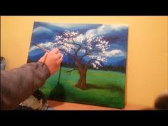 Painting Lessons: Online guided acrylic painting for beginners (Whimsical Tree) CreativeJuicesArts - YouTube