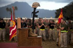 Marines honor their 119 fallen comrades from the wars in Iraq and Afghanistan. (U.S. Marine Corps photo by Lance Cpl. Matthew Bragg)
