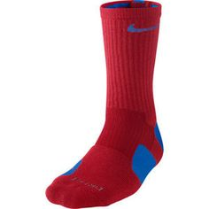 Nike Dri-Fit Crew ELITE Baskeball Socks - Red/Blue