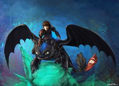 The Alpha Protects Them All - Hiccup and Toothless - How To Train Your Dragon 2 Fan Art Prints and Posters
